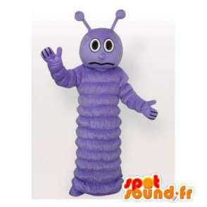Purple chenille mascot. Caterpillar costume - MASFR006435 - Mascots insect
