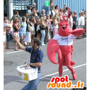 Mascotte de homard rouge, géant
