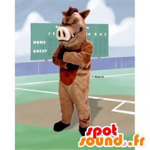 Mascota de jabalí, cerdo salvaje