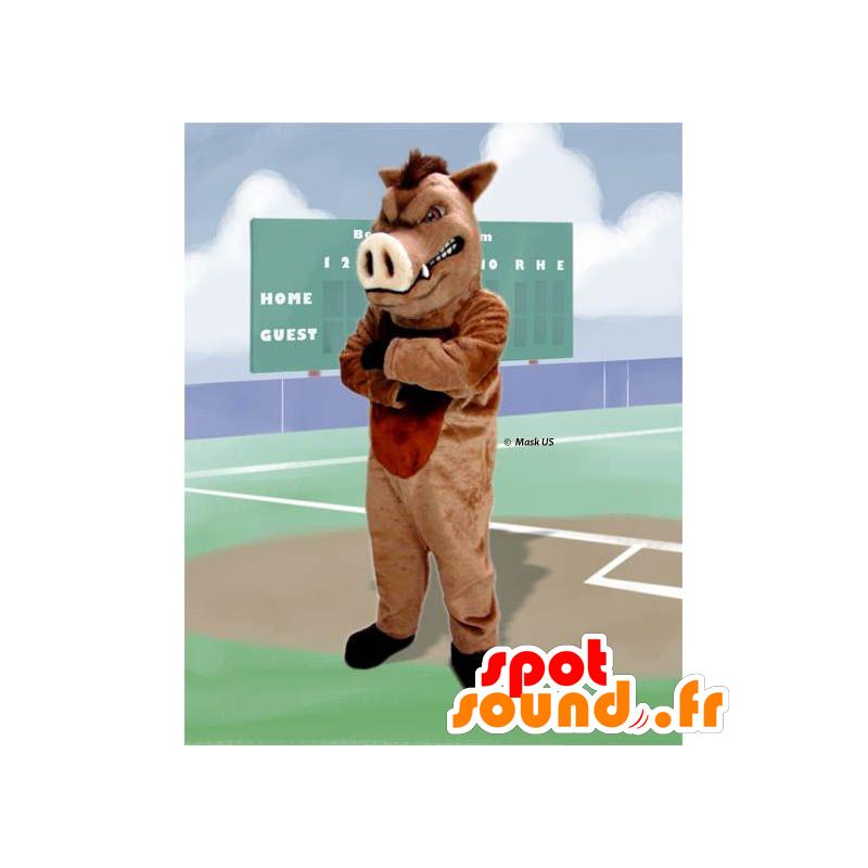 Boar mascot, wild pig - MASFR20910 - Mascots pig