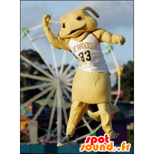 Rabbit mascot, yellow creature
