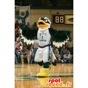 Mascot de Eagle verde, azul e branco - MASFR20925 - aves mascote