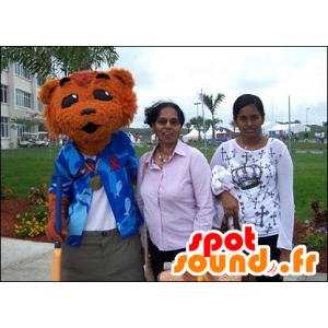 Kissa maskotti, ruskeakarhu - MASFR20927 - Bear Mascot