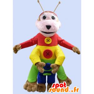 Mångfärgad larvmaskot - Spotsound maskot