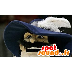 Mascot realistico moschettiere
