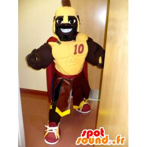Mascot afrikansk, gladiator med en gul rustning