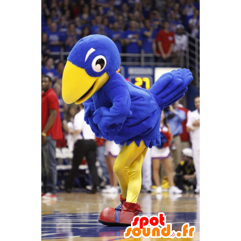 Blue and white bird mascot, giant - MASFR21000 - Mascot of birds