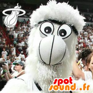 Mascot Yeti, all white hairy monster - MASFR21019 - Monsters mascots