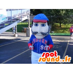 Mascot schnauzbärtige Mann mit blauen Augen - MASFR21028 - Menschliche Maskottchen