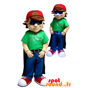Ragazzo mascotte, con un mantello e cappuccio - MASFR21029 - Bambino mascotte