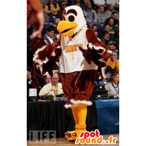 Mascot eagle, vulture, brown, white and yellow - MASFR21048 - Mascot of birds