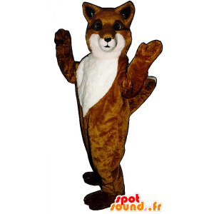 Orange and white fox mascot