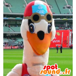 Mascot swimsuit stork - MASFR21078 - Mascot of birds