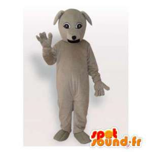 Grå hund maskot. Grey Dog Costume - MASFR006446 - Dog Maskoter