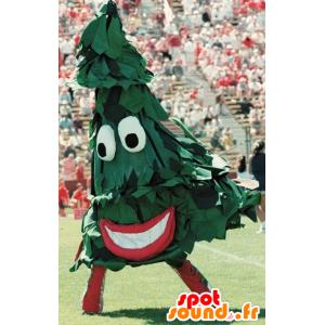 Mascotte de sapin vert, géant