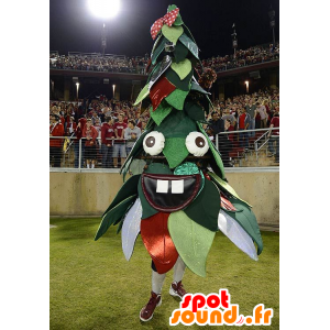 Christmas tree mascot, green and red