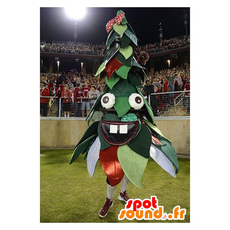 Mascotte de sapin de Noël, vert et rouge - MASFR21091 - Mascottes Noël