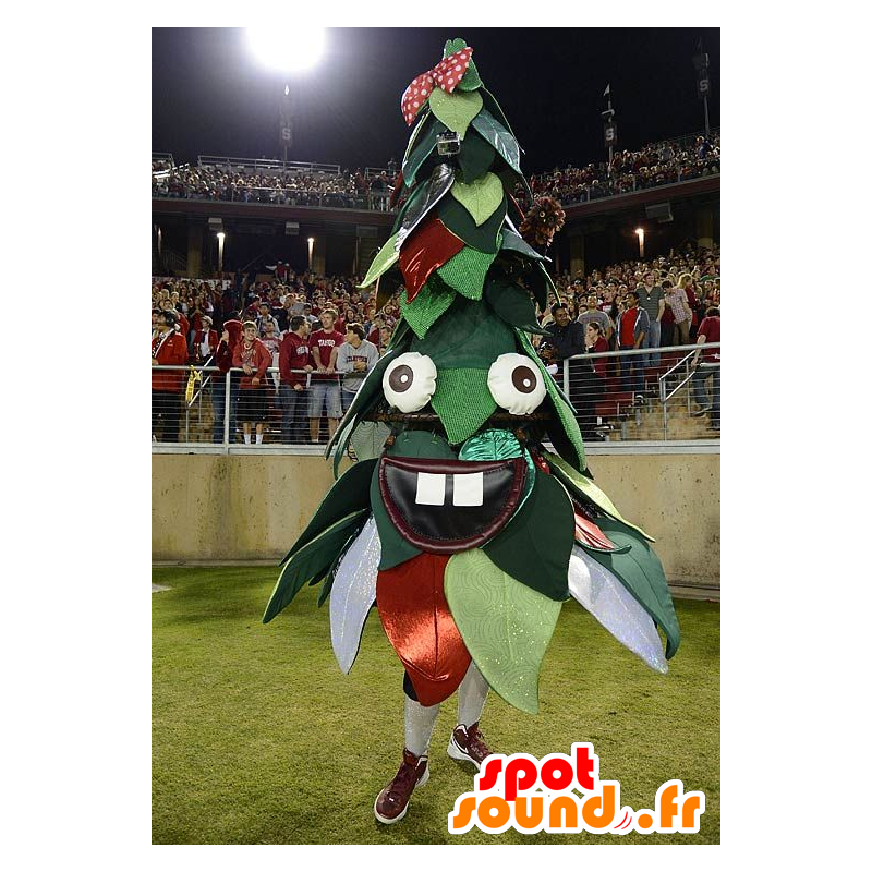 Weihnachtsbaum-Maskottchen, grün und rot - MASFR21091 - Weihnachten-Maskottchen