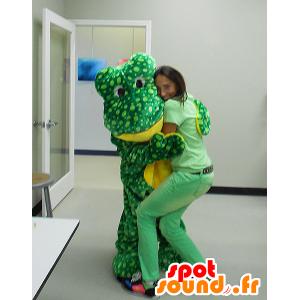 Grüne und gelbe Frosch-Maskottchen, Erbse - MASFR21105 - Maskottchen-Frosch