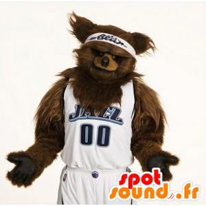 Mascot brown bears, all hairy - MASFR21106 - Bear mascot