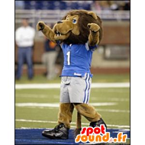 Brown lion mascot in sportswear - MASFR21111 - Lion mascots