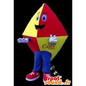 Maskotti punainen leija, keltainen ja sininen - MASFR21125 - Stag ja Doe Mascots