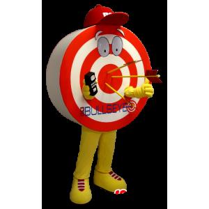 Muotoinen maskotti jättiläinen kohde, punainen, keltainen ja valkoinen - MASFR21127 - Mascottes non-classées