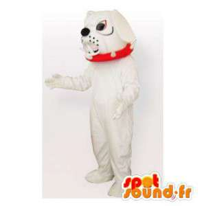 Valkoinen bulldoggi maskotti. disguise bulldog - MASFR006449 - koira Maskotteja