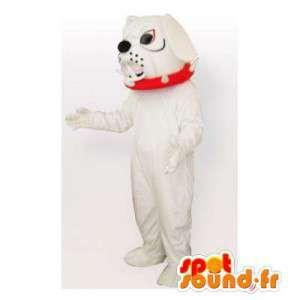 White bulldog mascot. Bulldog costume - MASFR006449 - Dog mascots