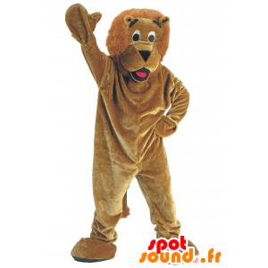 Ruskea leijona maskotti - MASFR21133 - Mascottes non-classées