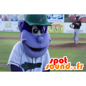 Purple monkey mascot, with a cap - MASFR21136 - Mascots monkey