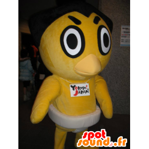 Yellow chick mascot, duck