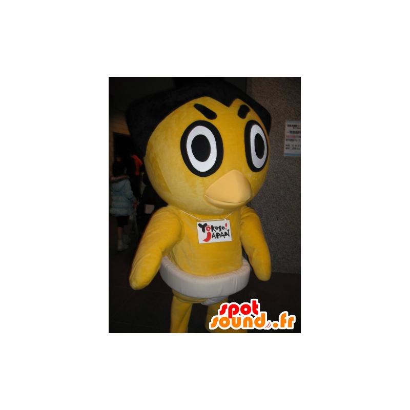 Mascotte de poussin jaune, de canard - MASFR21139 - Mascotte de canards