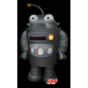 Mascot grau Roboter, sehr lustig