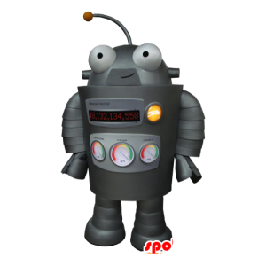 Mascot robô cinza, muito engraçado - MASFR21152 - mascotes Robots