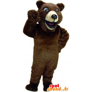 Brun bjørnemaskot, kæmpe - Spotsound maskot kostume