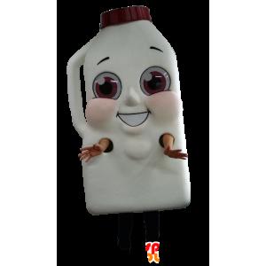 Mascot riesigen Flasche Milch oder Schokoladengetränk