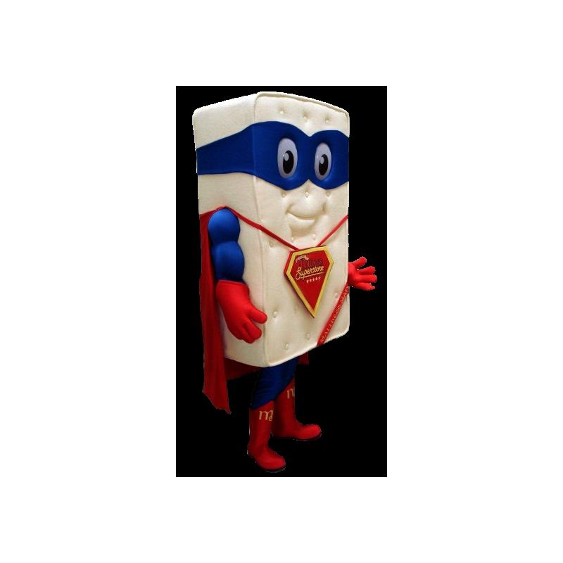 Mascotte de matelas géant habillé en super-héros - MASFR21160 - Mascotte de super-héros