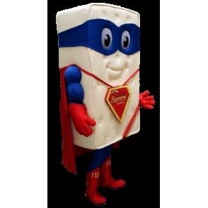 Madrass Giant maskot utkledd som superhelt - MASFR21160 - superhelt maskot