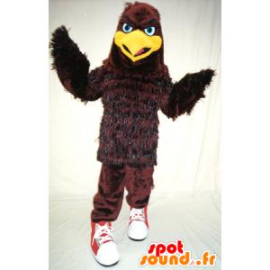 Mascote águia, marrom e pássaro amarelo - MASFR21163 - aves mascote