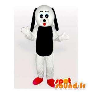 Svart och vit hundmaskot. Hunddräkt - Spotsound maskot