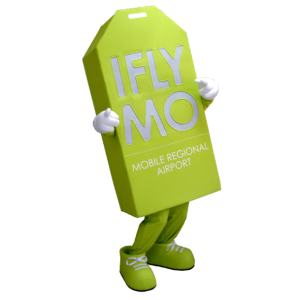 Mascotte giant label, fluorescent green - MASFR21177 - Mascots of objects
