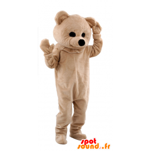 Beige bear mascot - MASFR21178 - Bear mascot