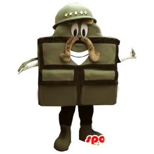 Mascot soldado, saco militar - MASFR21191 - mascotes Soldiers
