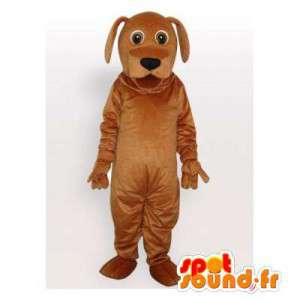 Kan tilpasses brun hundemaskot - Spotsound maskot kostume