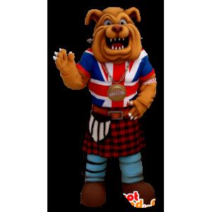 Bulldog maskot, klädd i angelsaxisk klädsel - Spotsound maskot