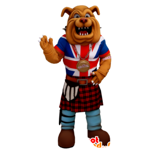 Mascot buldog klejony jednolita anglosaskiej - MASFR21203 - dog Maskotki
