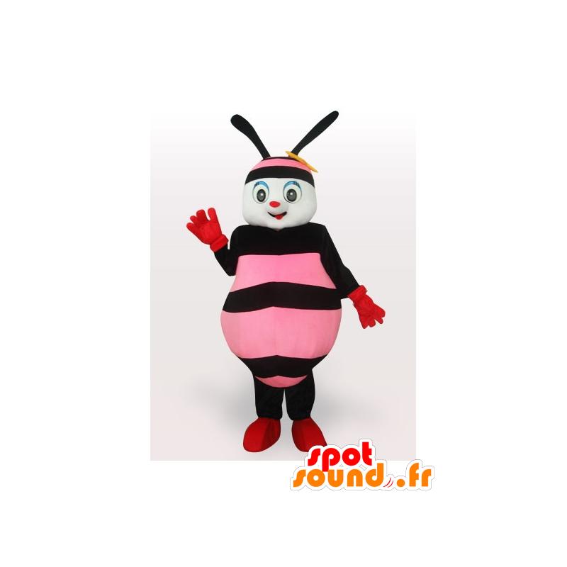 Pink and black bee mascot - MASFR21204 - Mascots bee