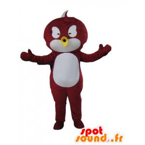 Czerwony i biały ptak maskotka - MASFR21214 - ptaki Mascot