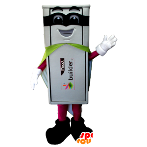 Λευκό USB στολή μασκότ υπερήρωα
